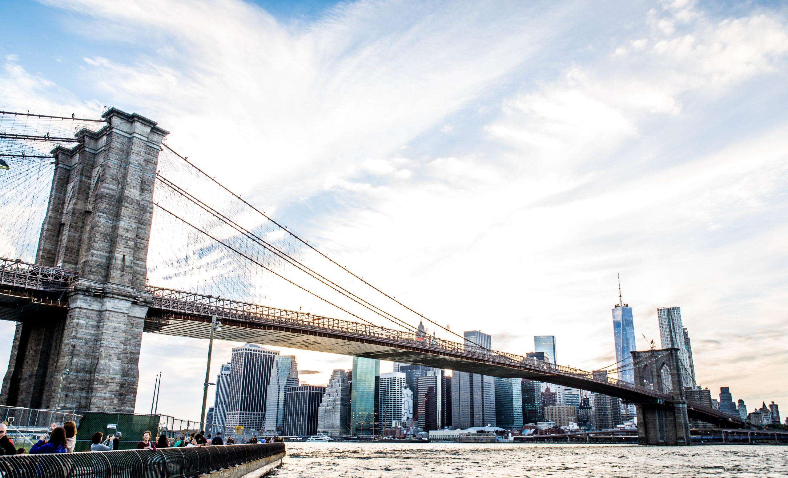 Puente Brooklyn Vista de Manhattan